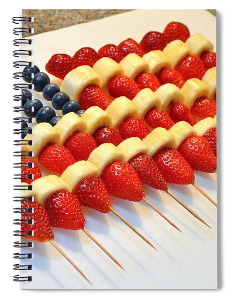 American Flag Fruit Kabobs Spiral Notebook