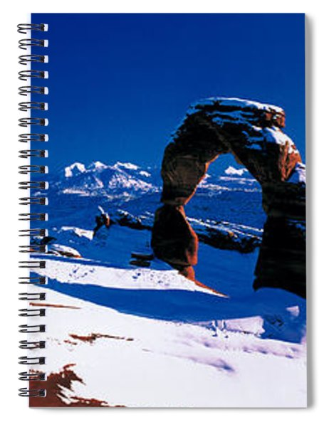 Usa, Utah, Delicate Arch, Winter Spiral Notebook