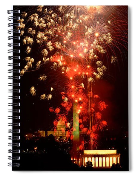 Usa, Washington Dc, Fireworks Spiral Notebook