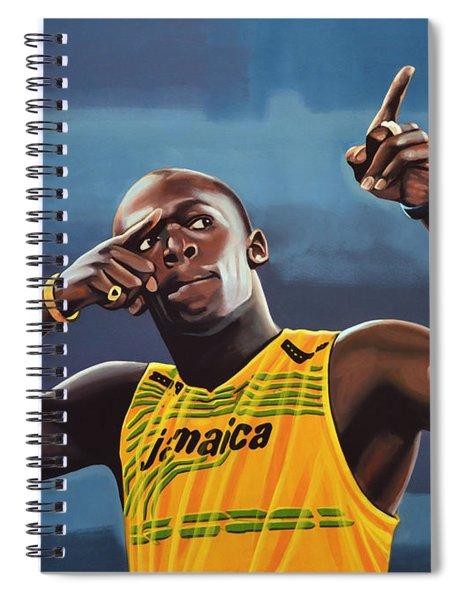 Usain Bolt Painting Spiral Notebook