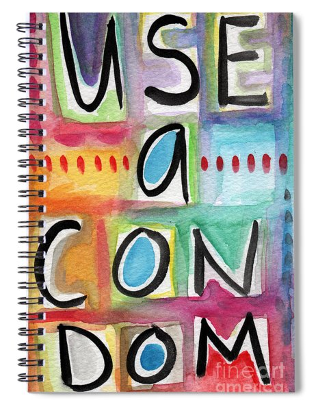 Use A Condom Spiral Notebook
