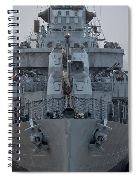 Uss Kidd Dd 661 Front View Spiral Notebook