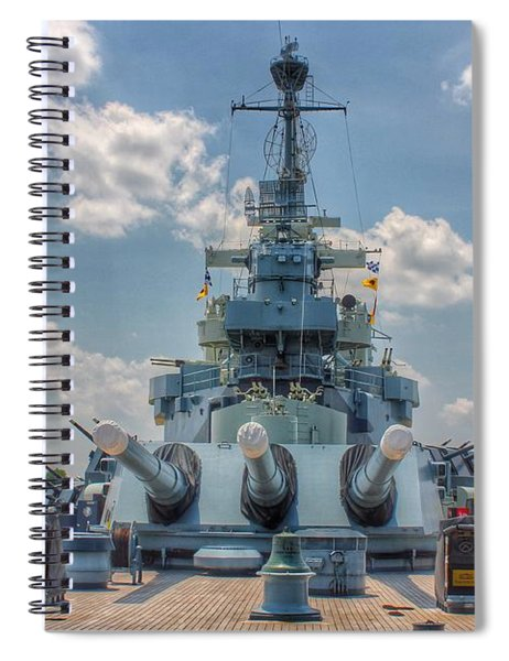 Uss North Carolina Spiral Notebook