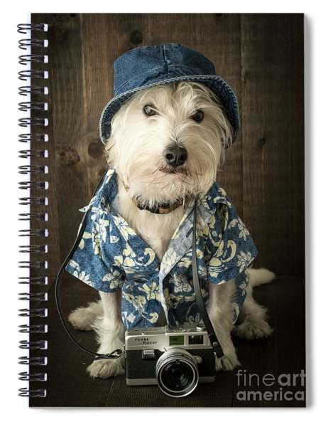 Spiral Notebook featuring the photograph Vacation Dog by Edward Fielding