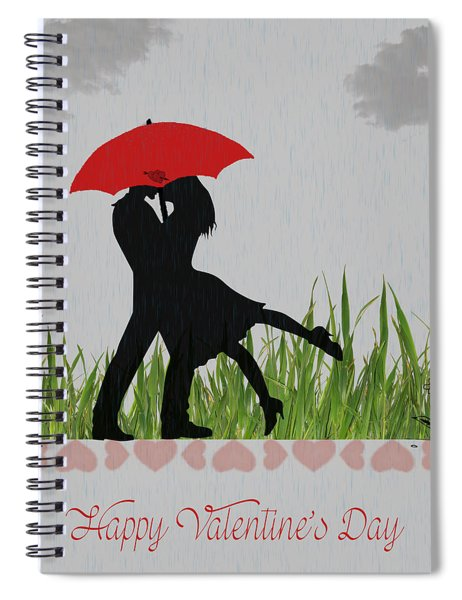 Valentine Card 4 Spiral Notebook