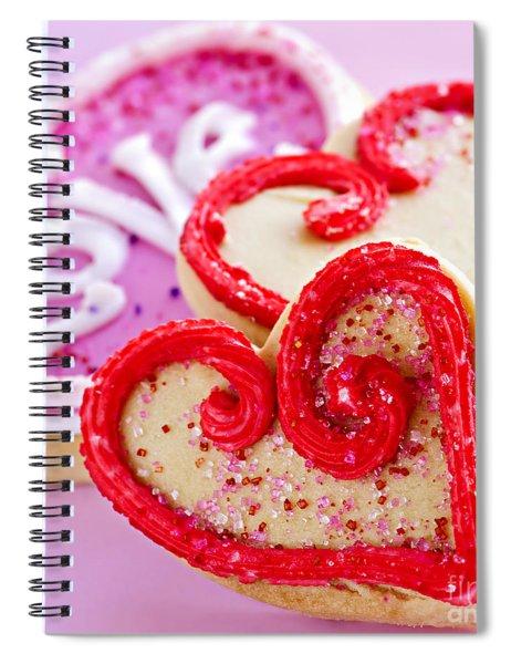 Valentines Hearts Spiral Notebook