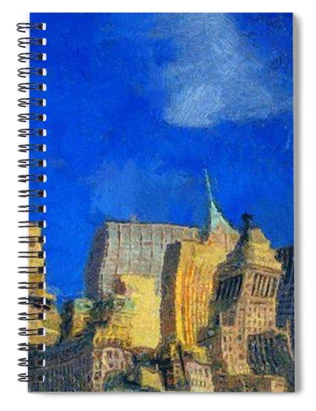 Van Gogh Meets Manhattan Spiral Notebook