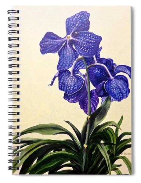 Vanda Sausai Blue Orchid Spiral Notebook