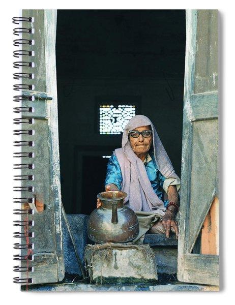 Varanasi Water Seller Spiral Notebook