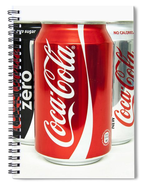 Various Coke Cola Cans Spiral Notebook