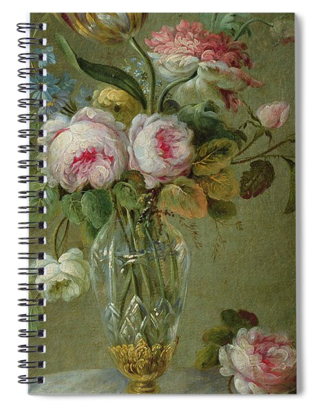 Vase Of Flowers On A Table Spiral Notebook