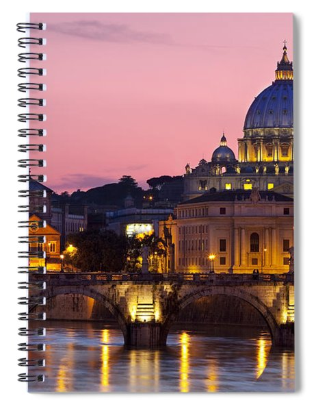 Spiral Notebook featuring the photograph Vatican Twilight by Brian Jannsen