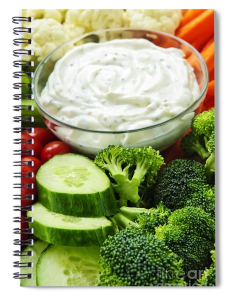 Vegetables And Dip Spiral Notebook