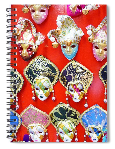 Venetian Masks  Spiral Notebook