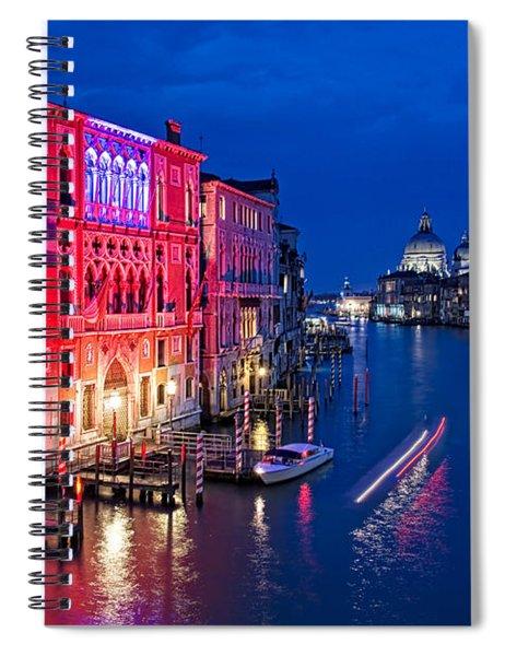 Venice By Night Spiral Notebook