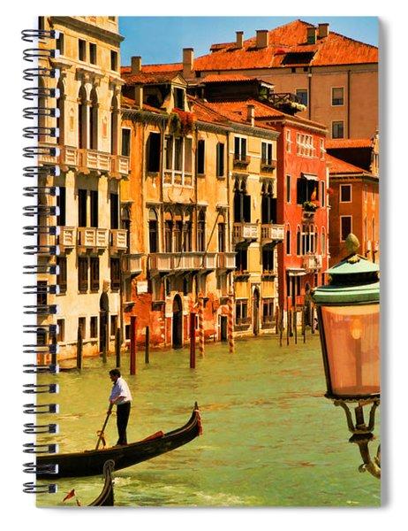Venice Street Lamp Spiral Notebook