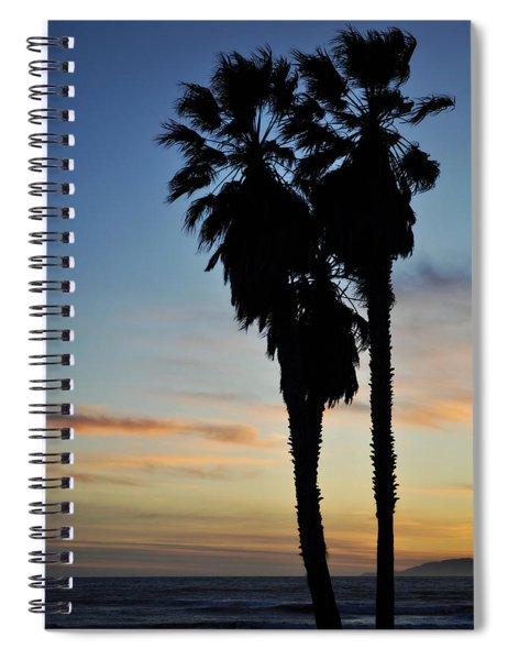Ventura Palm Sunset Spiral Notebook