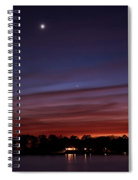Venus And Mercury Spiral Notebook