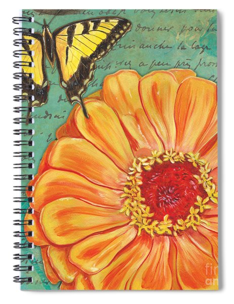 Verdigris Floral 1 Spiral Notebook