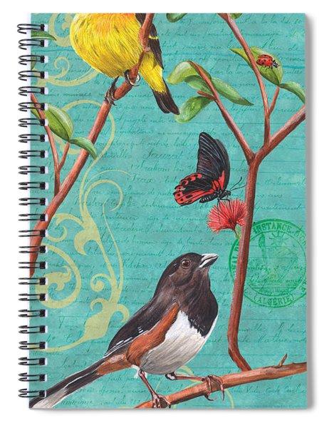 Verdigris Songbirds 2 Spiral Notebook