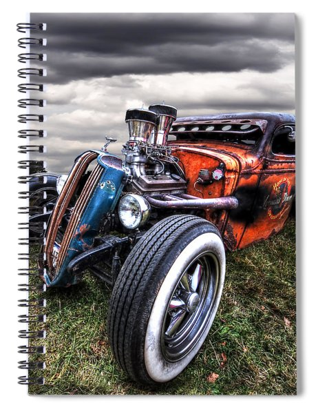 Vermin's Diner Rat Rod Front Spiral Notebook