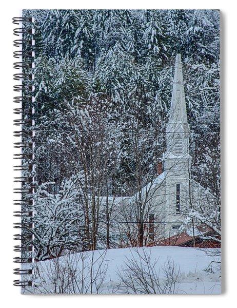 Vermont Church In Snow Spiral Notebook