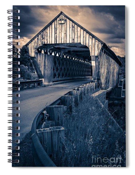 Vermont Covered Bridge In Moonlight Spiral Notebook