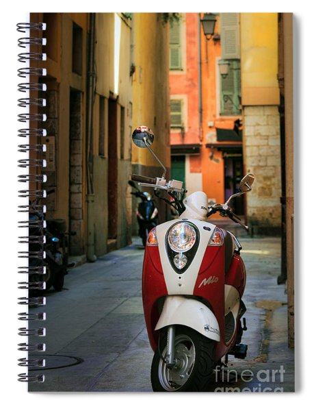 Nicoise Scooter Spiral Notebook by Inge Johnsson