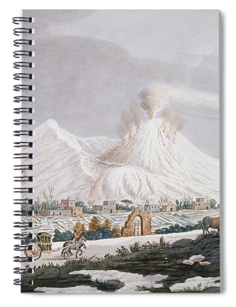 Vesuvius In Snow, Plate V From Campi Spiral Notebook