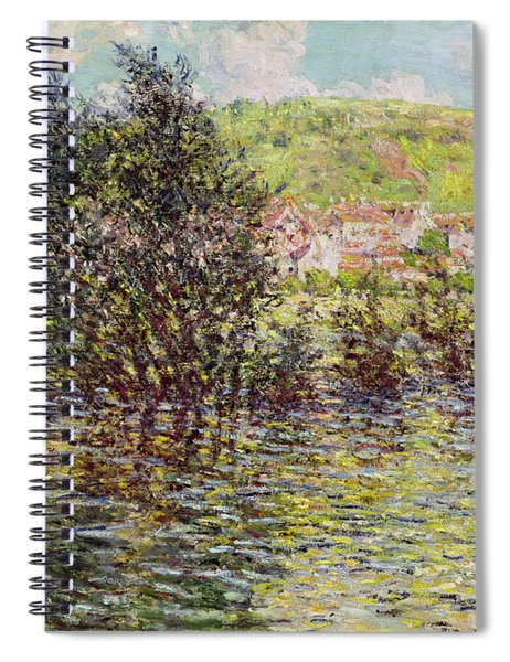 Vetheuil, View From Lavacourt, 1879 Oil On Canvas Spiral Notebook