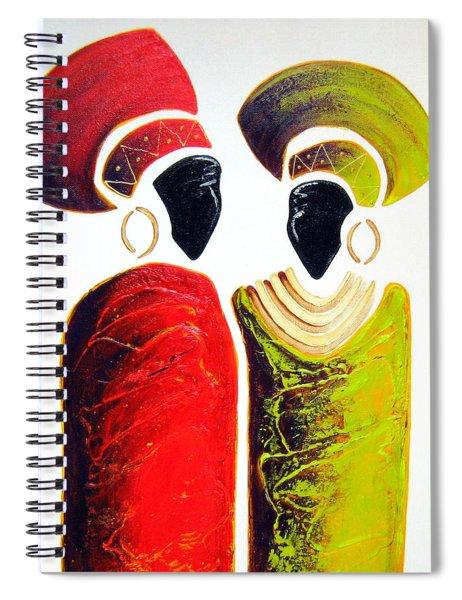 Vibrant Zulu Ladies - Original Artwork Spiral Notebook