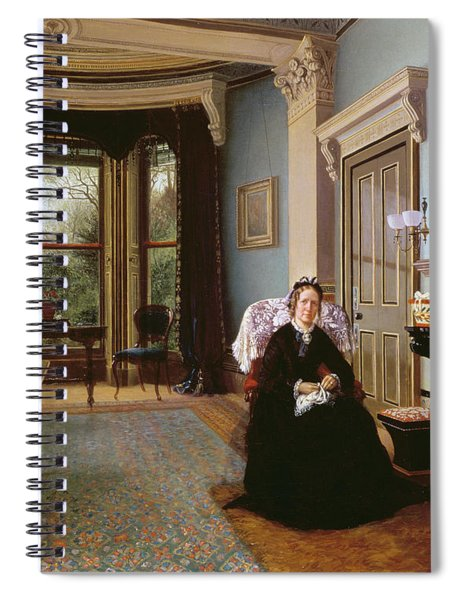 Victorian Interior With Seated Lady Spiral Notebook