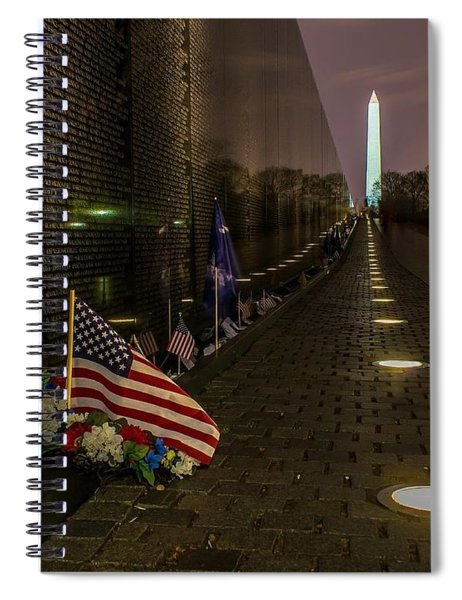 Vietnam Veterans Memorial At Night Spiral Notebook
