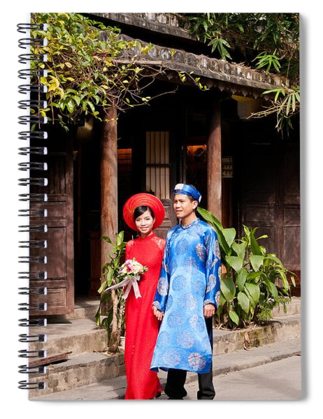 Vietnamese Wedding Couple 01 Spiral Notebook