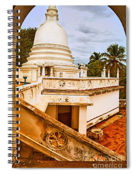 View At A Temple Spiral Notebook