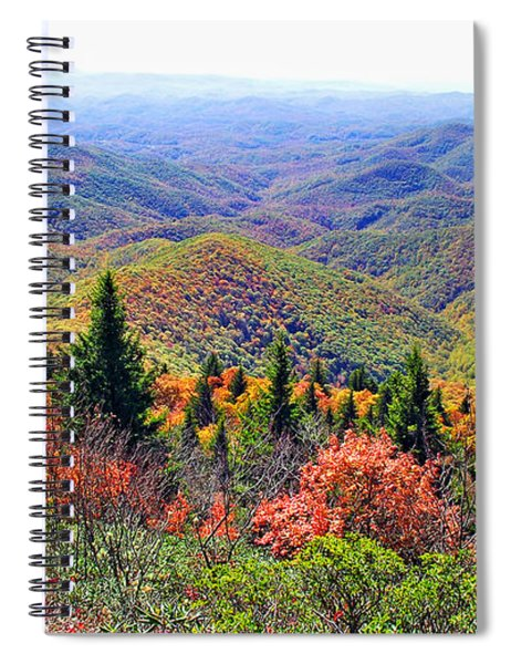View From Devil's Courthouse Rock Spiral Notebook