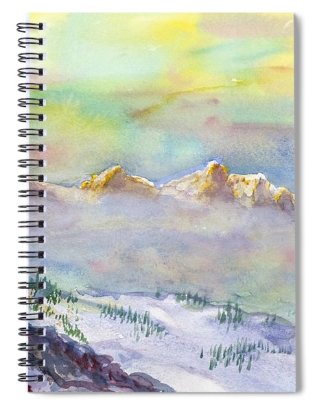 View From Snowbird Spiral Notebook