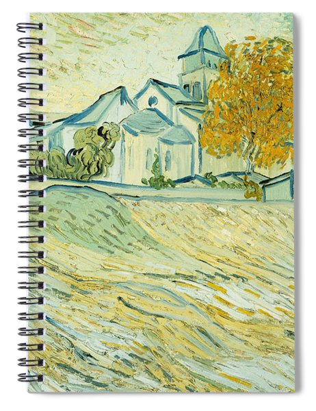 View Of Asylum And Saint-remy Chapel Spiral Notebook