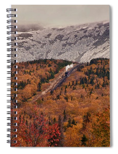 View Of Autumn Foliage From The Mount Washington Cog Railway Train Spiral Notebook