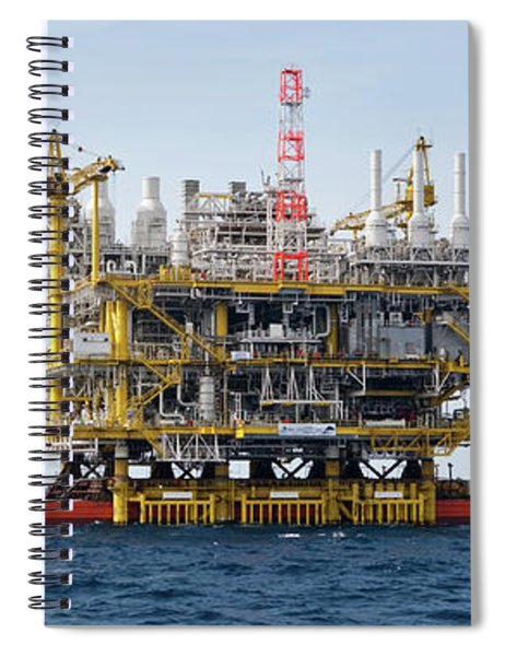 View Of Commercial Dock, Gulf Spiral Notebook