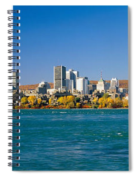 View Of Montreal Skyline And The Saint Spiral Notebook