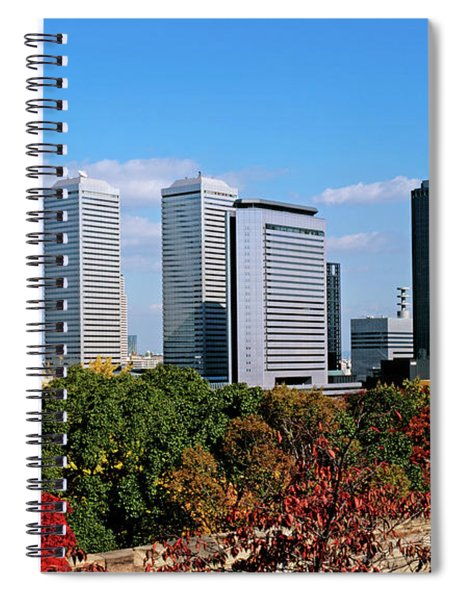 View Of Osaka Business Park In Autumn Spiral Notebook