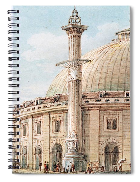View Of The Grain Market And The Astronomical Column, Paris Spiral Notebook