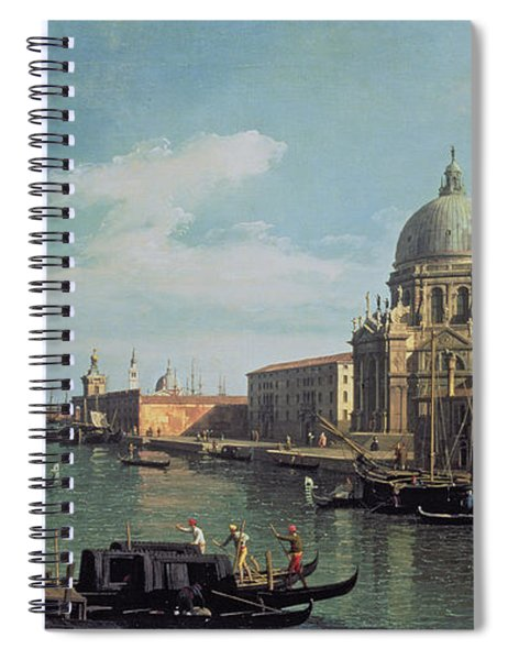 View Of The Grand Canal Santa Maria Spiral Notebook