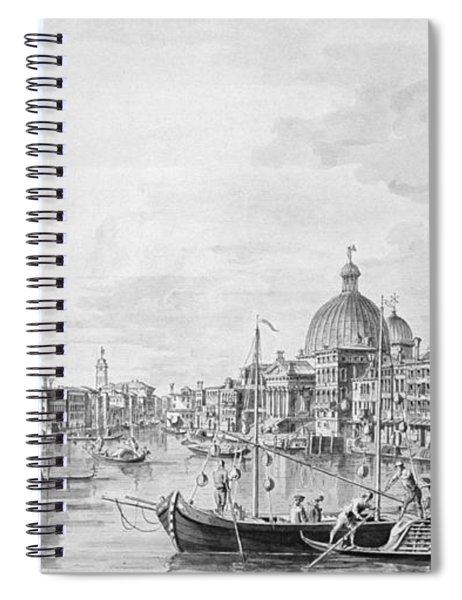 View Of The Grand Canal, Venice, C.1800 Pen & Ink Wash Spiral Notebook