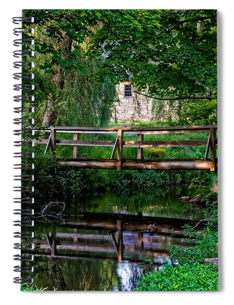 View Of The Grist Mill At Waterloo Village Spiral Notebook