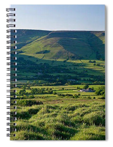 View Of The Hope Valley, Derbyshire Spiral Notebook