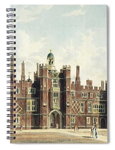 View Of The Quadrangle At Hampton Court Spiral Notebook
