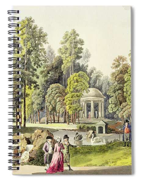 View Of The Temple Of Diana At Erlaw Spiral Notebook