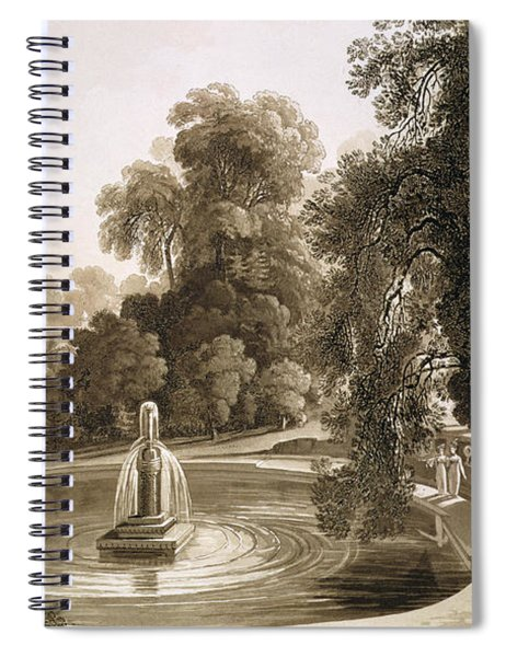 View Of The Temple Of Suryah Spiral Notebook
